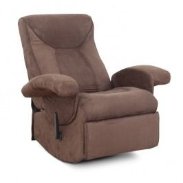 Relaxační křeslo v moderním látkovém provedení hnědá SUAREZ