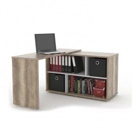 Rozkládací PC stůl v jednoduchém moderním designu dub canyon ASTON