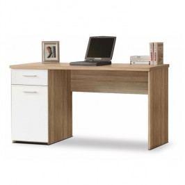 PC stůl v jednoduchém moderním provedení bílá EGON