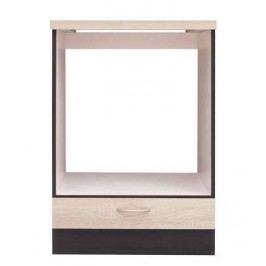 Dolní skříňka pro troubu a varnou desku JUNONA DPK/60/82 dub sonoma/wenge 60 cm