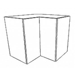 WRN horní skříňka rohová KN1810 D/B levá
