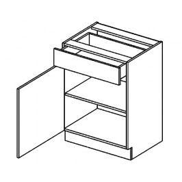 D60/S1 d. skříňka 1-dvéřová SANDY STYLE levá