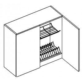 W80SS horní skříňka s odkapávačem SANDY STYLE
