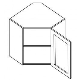 WR60W h. vitrína rohová PREMIUM de LUX olše čiré sklo