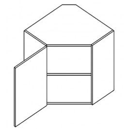 WR60L horní skříňka rohová PREMIUM de LUX hruška