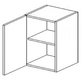 W60L horní skříňka jednodvéřová PREMIUM de LUX hruška