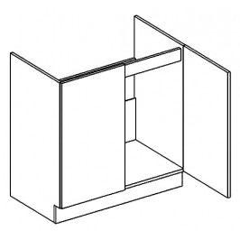 D80ZL dolní skříňka pod dřez PREMIUM de LUX hruška