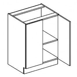 D60 dolní skříňka dvojdvéřová NORA hruška