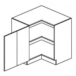 DRPL d. skříňka rohová PREMIUM 80x80 cm hruška