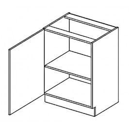 D60L dolní skříňka jednodvéřová PREMIUM hruška