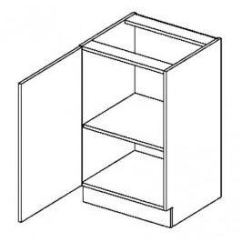 D50L dolní skříňka jednodvéřová PREMIUM olše
