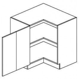 DRPL d. skříňka rohová NORA de LUX 80x80 cm hruška