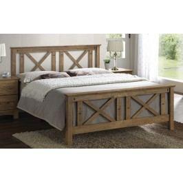 Manželská postel 180 x 200 cm z masivního dřeva s roštem KN337