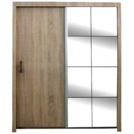 Šatní skříň s posuvnými dveřmi a zrcadlem 150cm F200