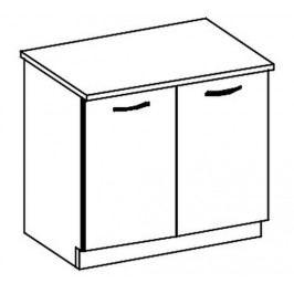 D80 dolní skříňka dvoudveřová LIMED