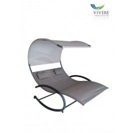 Zahradní houpací postel Vivere Double Chaise Rocker, Sienna