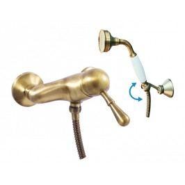 Baterie sprchová se sprchou a otočným držákem LABE L081.5/2SM stará mosaz