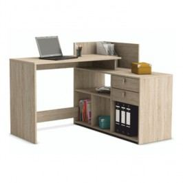 Rohový PC stůl v jednoduchém moderním provedení dub sonoma VISTA
