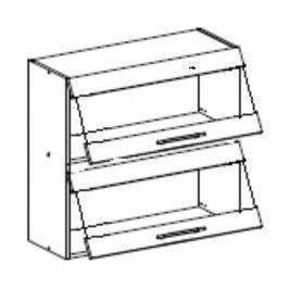 Horní skříňka, dub sonoma / bílá, FABIANA W - 80K2S