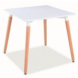Jídelní stůl s bílou deskou o rozměrech 80 x 80 cm KN197