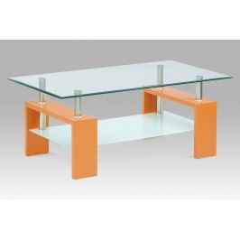 Konferenční stůl skleněný oranžový AF-2024 ORA