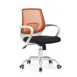 Kancelářské křeslo v jednoduchém moderním provedení oranžová LANCELOT