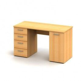 Praktický PC stůl v moderním bukovém dekoru EUSTACH