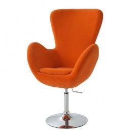 Relaxační křeslo v moderním látkovém provedení oranžová OLLI