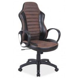 Kancelářské křeslo v kombinaci barev černé a hnědé typ Q212 KN106