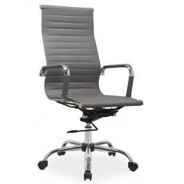 Čalouněné kancelářské křeslo v šedé barvě typ Q040 KN102