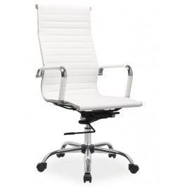 Čalouněné kancelářské křeslo v bílé barvě typ Q040 KN102
