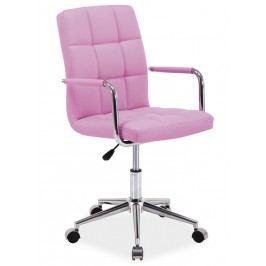 Čalouněná kancelářská židle v růžové barvě typ Q022 KN101