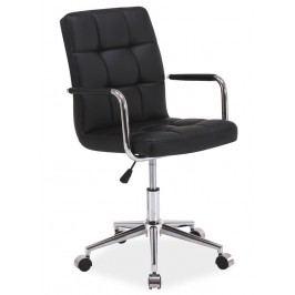 Čalouněná kancelářská židle v černé barvě typ Q022 KN101