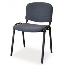 Čalouněná konferenční židle, šedá KN046