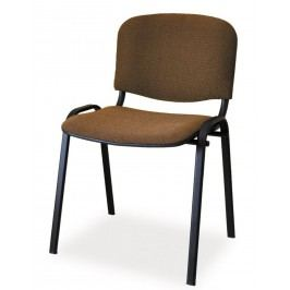 Čalouněná konferenční židle, hnědá KN046