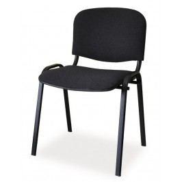 Čalouněná konferenční židle, černá KN046