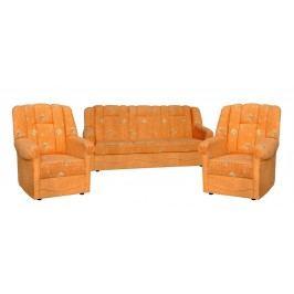Rozkládací sedací souprava s úložným prostorem v žluté barvě 3+1+1 F1046