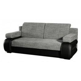 Rozkládací pohovka s úložným prostorem v šedé a černé barvě KN146