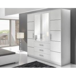 Šatní skříň KN303 D4 bílá