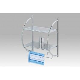 Závěsná kovová koupelnová police chrom 81258-01