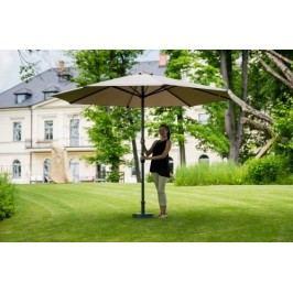 Slunečník hliníkový zahradní hnědošedý 350 cm