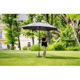 Slunečník hliníkový zahradní šedý 350 cm