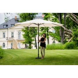 Slunečník hliníkový zahradní béžový 350 cm