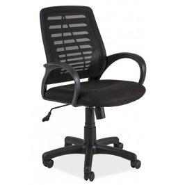 Čalouněné kancelářské křeslo v černé barvě KN054