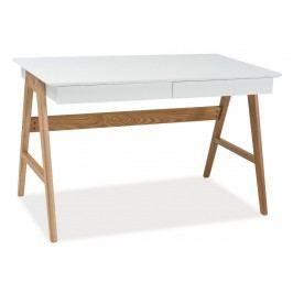 Pracovní stolek SCANDIC B1 bílá/dub