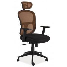 Kancelářské křeslo Q-116 černá/oranžová