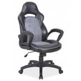Kancelářské křeslo Q-115 černá/šedá