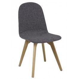 Jídelní čalouněná židle ARES šedá/dub