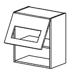 WS50/58 PD h. vitrína jednodveřová MORENO grafit bis