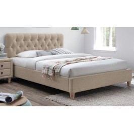 Manželská postel o rozměrech 180x200 cm s elegantním prošívaným vysokým čelem KN136